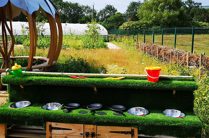 outdoor kitchen for toddlers @thegrange blackpool