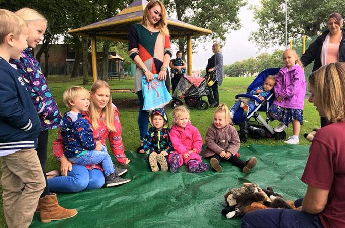 Children's activities in Claremont Park