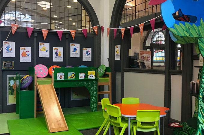 Reading Corner and Blackpool Central Library