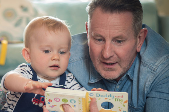 Dads reading to babies Blackpool